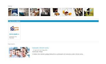 Povezujemo.si - Napredni paket oglaševanja - primer vizitke