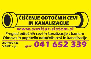 Sanitar sistem, čiščenje kanalizacije in odtokov, Vene Zdravko s.p.