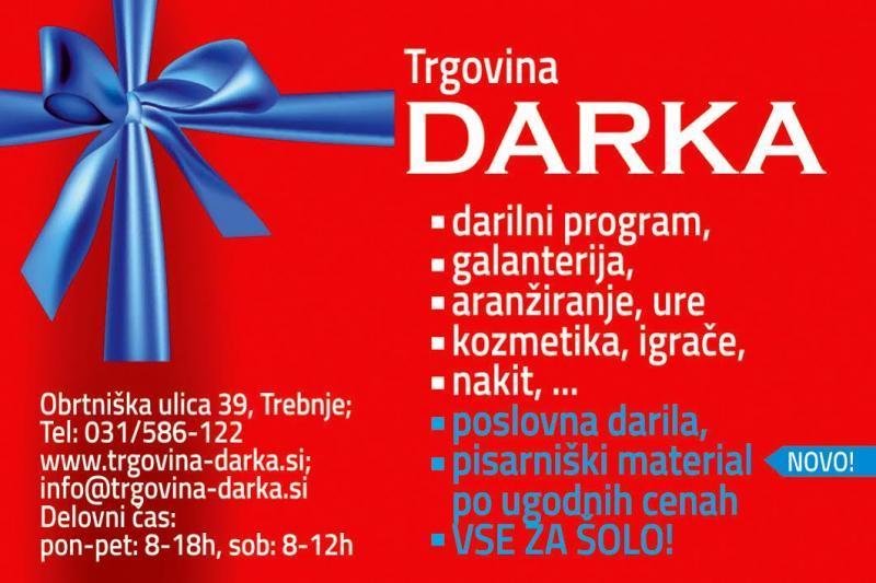 Trgovina Darka, veleprodaja daril in darilnega programa Trebnje