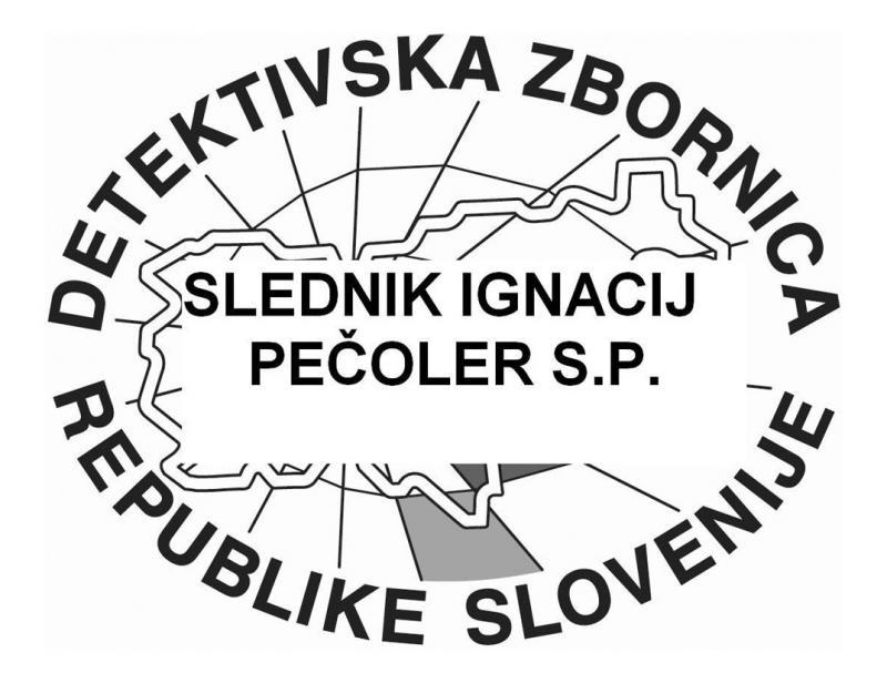 Slednik, detektivske storitve, Ignacij Pečoler s.p.