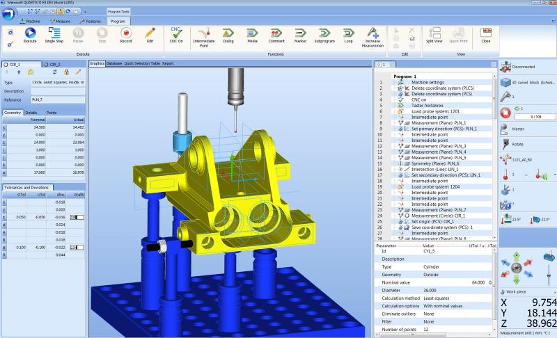 T-inženiring, programiranje koordinatnih merilnih strojev
