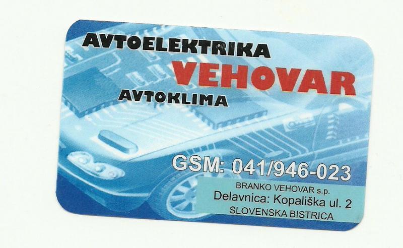 Avtoelektrika Vehovar, Branko Vehovar s.p.