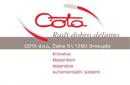 COTA, zaključna dela v gradbeništvu, d.o.o.