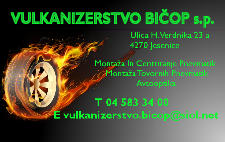 VULKANIZERSTVO BIČOP, BARBARA PAVLINJEK S.P.