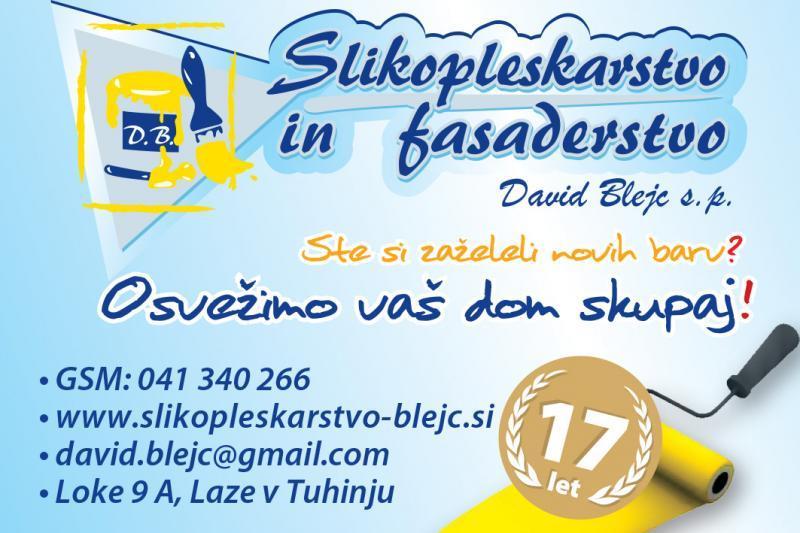 Slikopleskarstvo - Fasaderstvo, David Blejc s.p.
