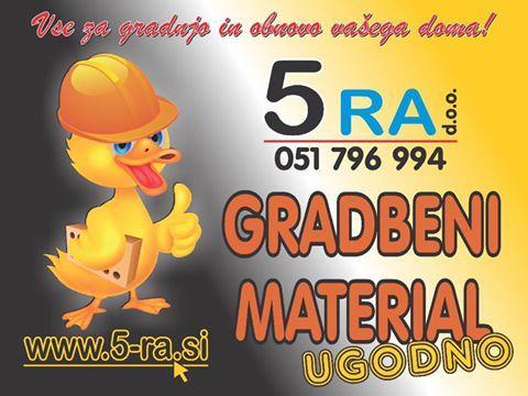 5 RA, prodaja gradbenega materiala in dostava na dom