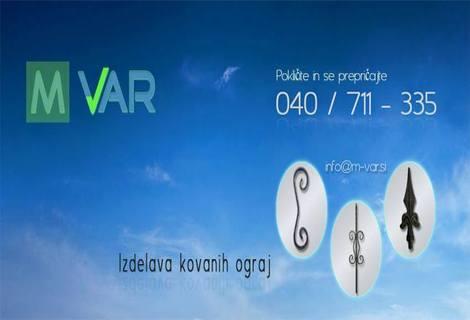 M-VAR, izdelava kovanih ograj, Miralem Mehmedović s.p.
