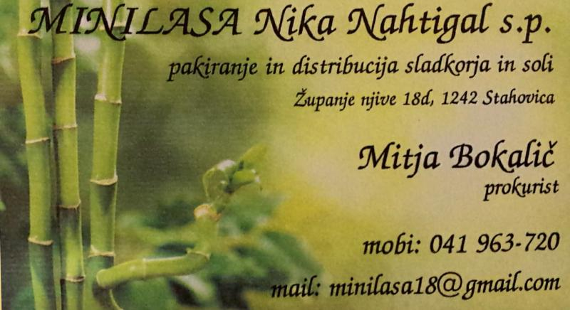 Minilasa, pakiranje in distribucija, Nika Nahtigal s.p.