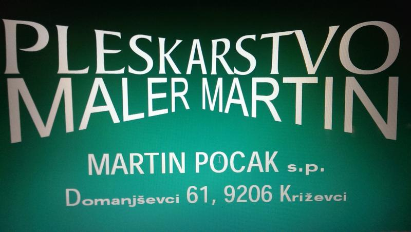 Pleskarstvo Maler Martin, Martin Pocak s.p.