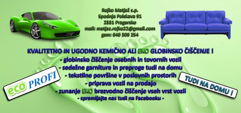 Čistilni servis Rojko Matjaž s.p., globinsko, ekološko in kemijsko čiščenje