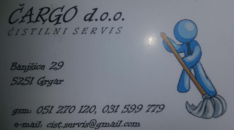 Čargo d.o.o., čistilni servis