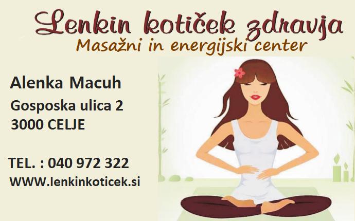Lenkin kotiček zdravja, masažni in energijski center, Alenka Macuh