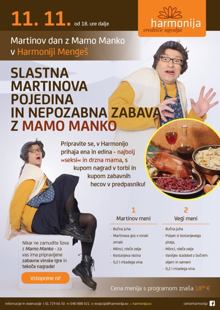 Martinov dan z Mamo Manko v Harmoniji Mengeš