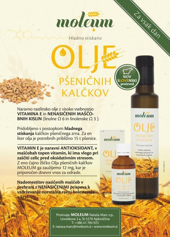 Moleum, Nataša Marc s.p. - Promocija olja pšeničnih kalčkov