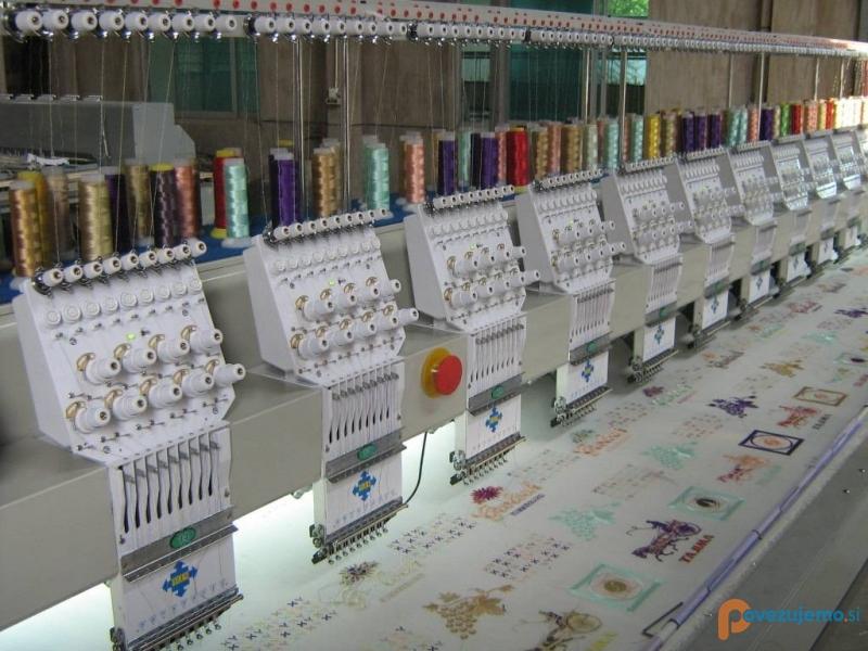 Strojno vezenje tekstila R Cvetko