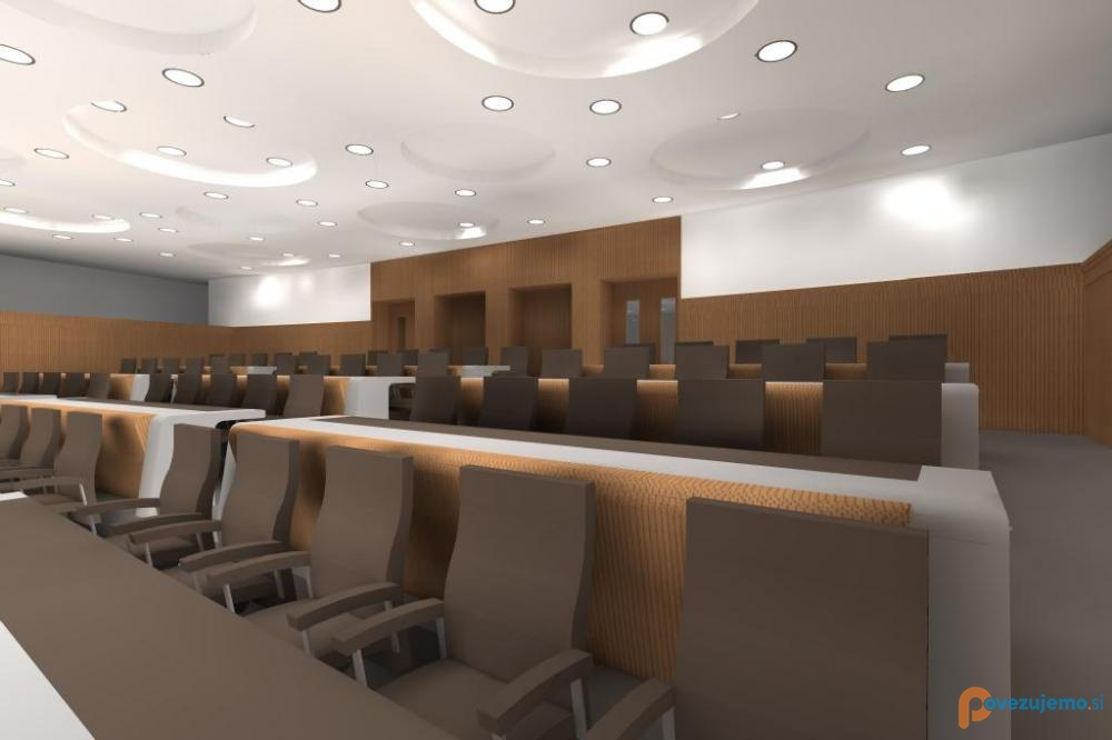 Slovenian Parliament small hall renovation