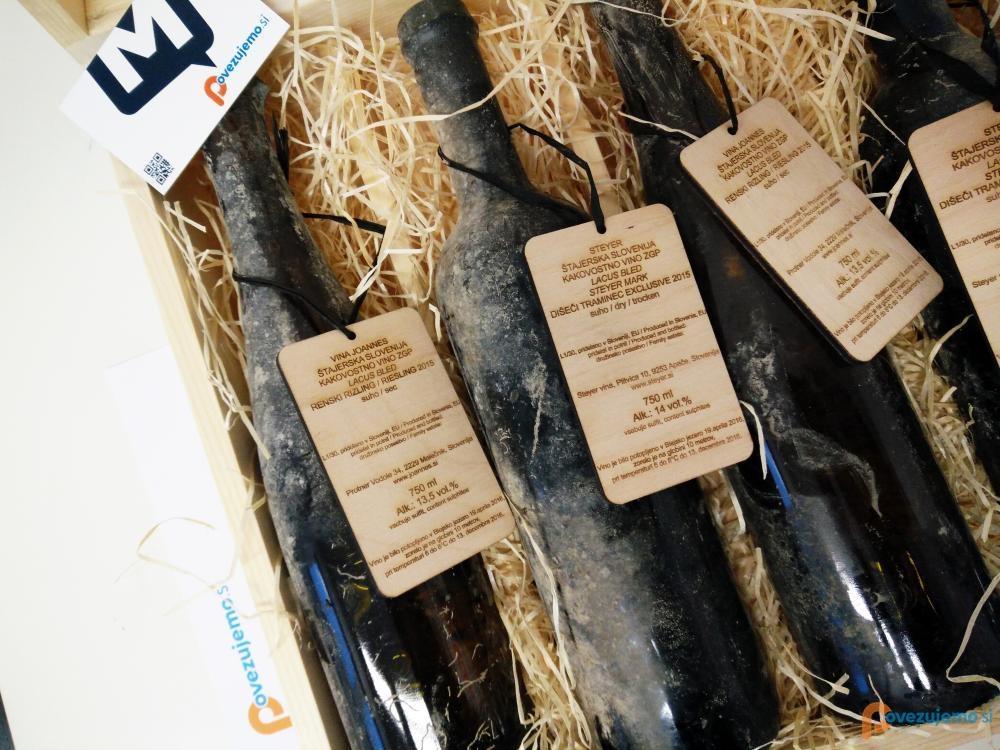 Mediacall d.o.o. - Zbirka zorjenih vin iz Bleda.