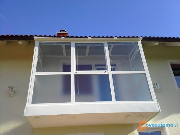 Steka-al steklarstvo Seliškar, Zasteklitev balkona
