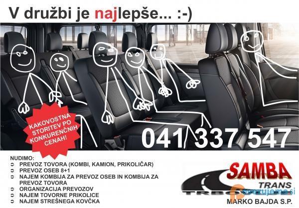 Samba Trans, najem vozil, Bajda Marko s.p.