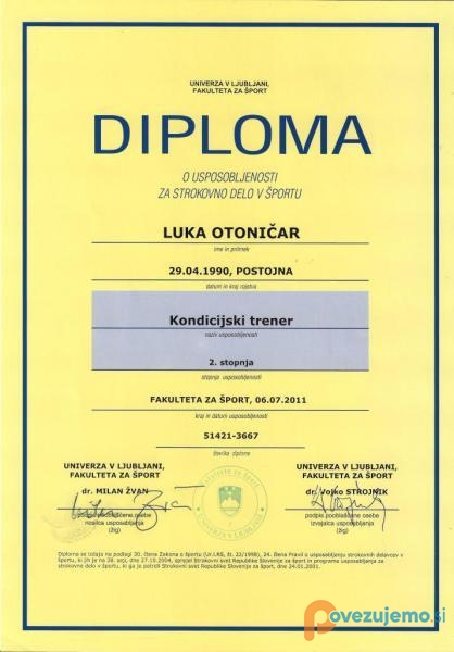 Otofit, osebno trenerstvo, Luka Otoničar s.p.