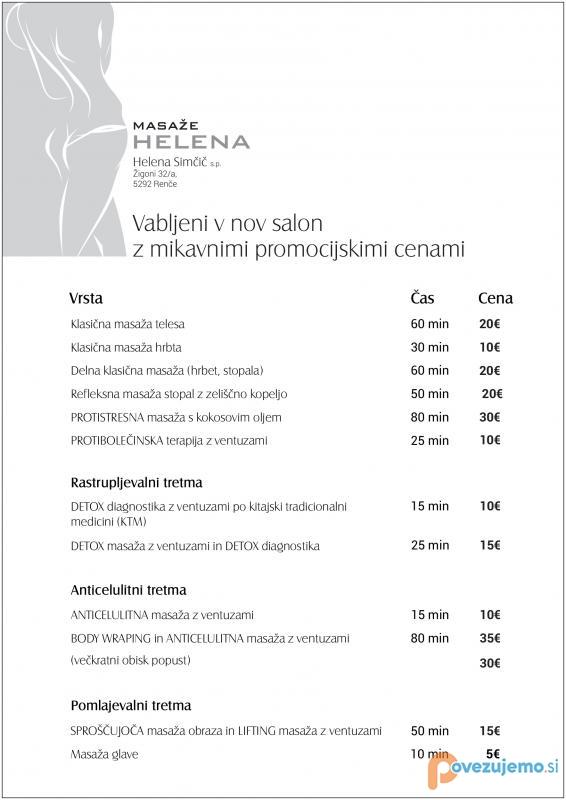 Masaže Helena, Helena Simčič s.p.