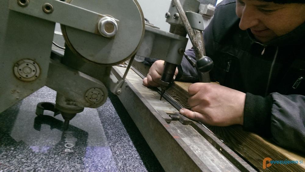Pečarstvo in kamnoseštvo Petaci - Strojno graviranje črk
