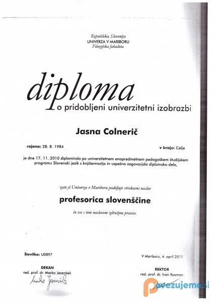 Izobraževanje Realka, Jasna Colnerič, s.p.