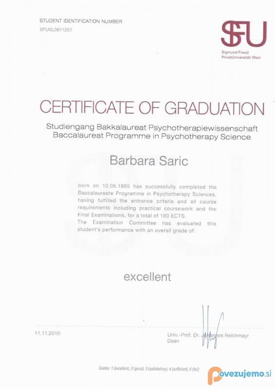 Psihoterapija in celostni pristop k zdravju, Barbara Sarić s.p.
