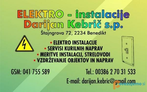 Elektroinštalacije Darijan Kebrič s.p.